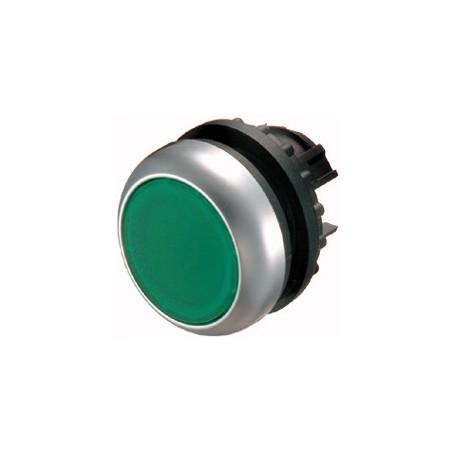 216596 Nyomógomb, lapos, zöld