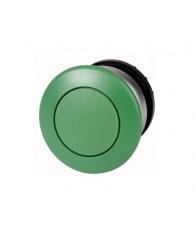 Gombafejű nyomógombfej, zöld