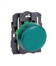 Komplett zöld LED jelzőlámpa, 24VAC/DC