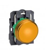 Komplett narancssárga LED jelzőlámpa, 24VAC/DC