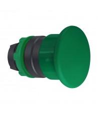 Harmony műanyag O40 gombafejű nyomógomb fej, O22, visszatérő, zöld