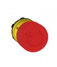 Harmony műanyag nyomógomb fej, O22, visszatérő, O30 gombafejű, forgatásra kioldó, piros
