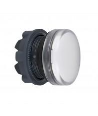 Harmony műanyag jelzőlámpa fej, O22, LED jelzőlámpához, fehér