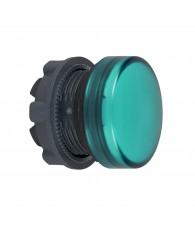 Harmony műanyag jelzőlámpa fej, O22, LED jelzőlámpához, zöld