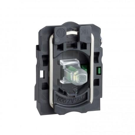Harmony műanyag jelzőlámpa és érintkező blokk rögzítő aljzattal, LED-es, 1NO, 230VAC, piros