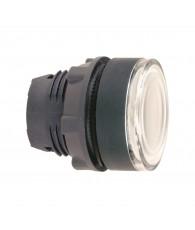 Harmony műanyag világító nyomógomb fej, O22, visszatérő, beépített LED-hez, fehér