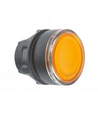 Harmony műanyag világító nyomógomb fej, O22, visszatérő, beépített LED-hez, narancssárga