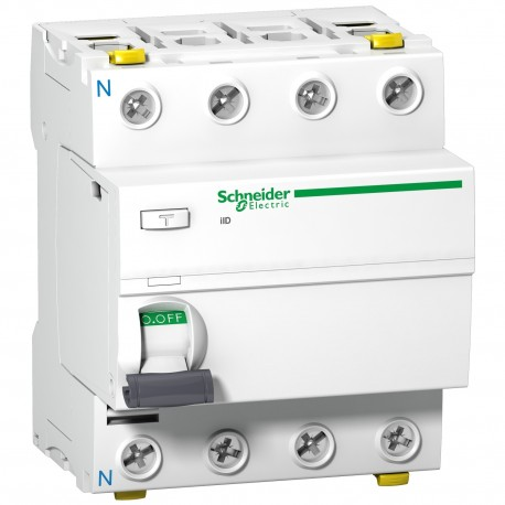 ACTI9 iID áram-védőkapcsoló, A osztály, 4P, 40A, 30mA