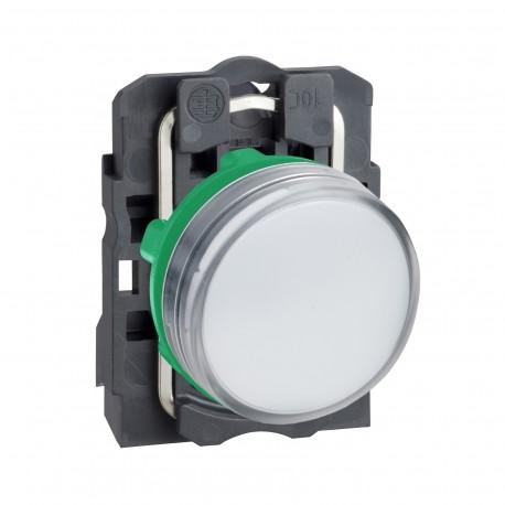 Harmony komplett műanyag LED jelzőlámpa, O22, 24VAC/DC, fehér
