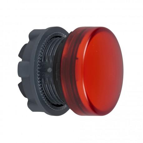 Harmony műanyag jelzőlámpa fej, O22, LED jelzőlámpához, piros