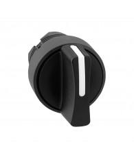 Harmony műanyag választókapcsoló fej, O22, 3 állású, fekete