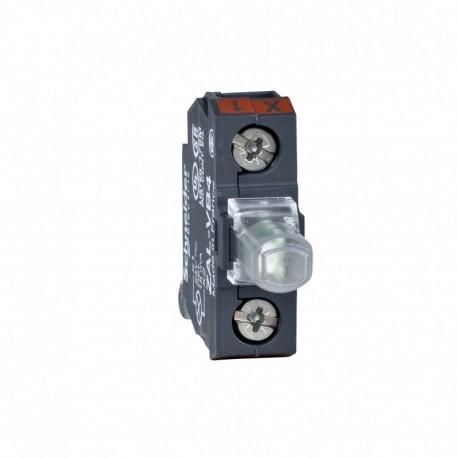 Harmony XAC kiegészítő, LED modul, hátlapra szerelhető, 24 VAC/DC fehér, XAC tokozatokhoz