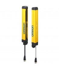 Biztonsági fényfüggöny, 2-es kategória, felbontás: 30 mm, védett magasság: 190 mm, fejlett kivitel