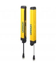 Biztonsági fényfüggöny, 2-es kategória, felbontás: 30 mm, védett magasság: 270 mm, fejlett kivitel