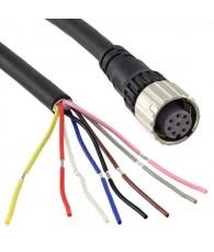 Safety sensor accessory, F3SG-R Advanced, receiver cable M12 8-pin, female, 10 m