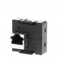 EtherNET/IP slave kommunikációs modul.CP1 EtherNet/IP communications option, for datalink function only, 1 x RJ45 socket