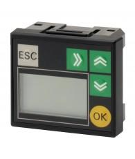CP1 PLC-k előlapjába pattintható kijelző egység.