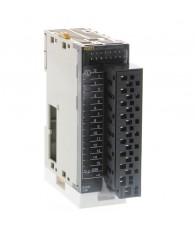 NPN tranzisztoros kimeneti modul 16 db (egy közös ponttal) 0,5 A / 24 VDC terhelhetőséggel, levehető gyorscsatlakozóval.