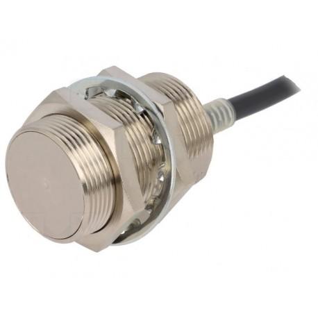 Induktív érzékelő M30-as átmérő, érzékelési távolság 10mm, AC 2-vezetékes NC kimenet, 2m beöntött kábellel