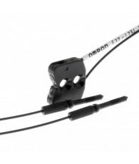 Fiber optic sensor, limited reflective, label detection, 7mm, R10 fiber, 2m cable
