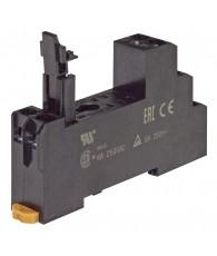 Socket, DIN rail/surface mounting, 8-pin, screw terminals