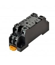 Socket, DIN rail/surface mounting, 8-pin, screw terminals (standard)