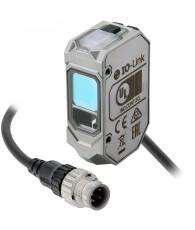 Fotoelektromos érzékelő, érzékelési távolság 35-500mm, PNP-kimenet, 0,3m kábellel és M12 csatlakozóval