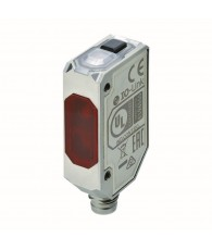 Photoelectric sensor, rectangular housing, stainless steel, red LED, background suppression, 80 mm, PNP, Light-ON/Dark-ON, IO-Li