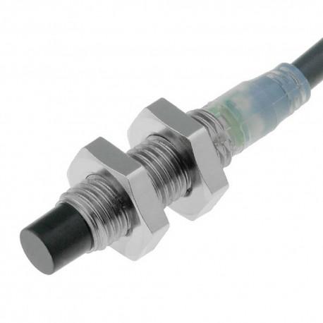 Induktív érzékelő M8-as átmérő, érzékelési távolság 2mm, NPN NO kimenet, 2m beöntött kábellel