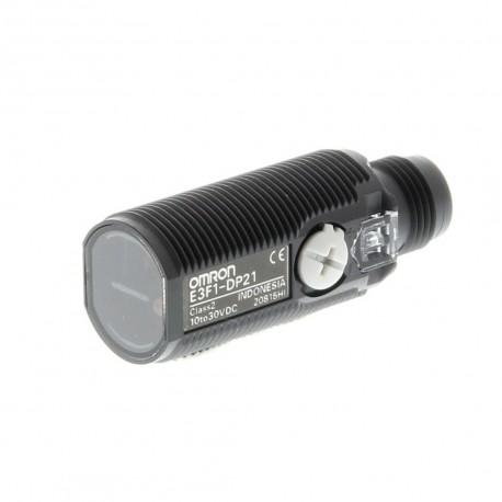 Fotoelektromos érzékelő M18-as átmérő, tárgyreflexiós, érzékelési távolság 300mm, PNP-kimenet, M12 csatlakozóval