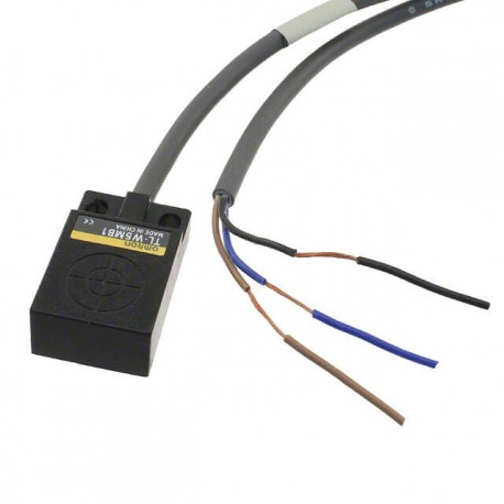 Induktív érzékelő, hasáb alakú, érzékelési távolság 5mm, PNP NO kimenet, 5m beöntött kábellel