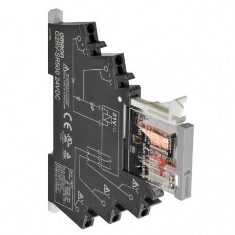 6mm-es I/O relé foglalattal, 6A, 24VAC/DC, Push-in plus csatlakozás, tesztgombbal