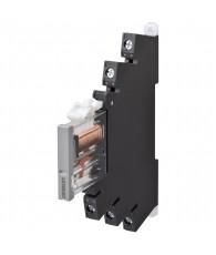 6mm-es I/O relé foglalattal, 6A, 24VAC/DC, csavaros csatlakozás, tesztgombbal