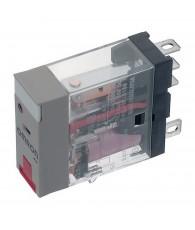 Ipari relé 230VAC, 1 váltóérintkezővel (10A), működésjelző LED-del, tesztgombbal
