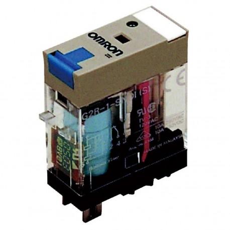 Ipari relé 24VDC, 1 váltóérintkezővel (10A), működésjelző LED-del, tesztgombbal