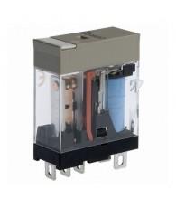 Ipari relé 24VDC, 1 váltóérintkezővel (10A), védődiódával, működésjelző LED-del