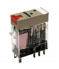 Ipari relé 230VAC, 2 váltóérintkezővel (5A), működésjelző LED-del, tesztgombbal