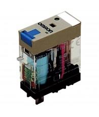 Ipari relé 12VDC, 1 váltóérintkezővel (10A), működésjelző LED-del, tesztgombbal, védődiódával