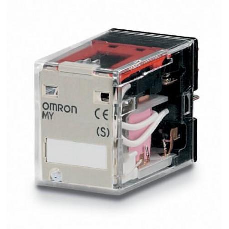 Ipari relé 24VAC, 2 váltóérintkezővel (10A), működésjelző LED-del