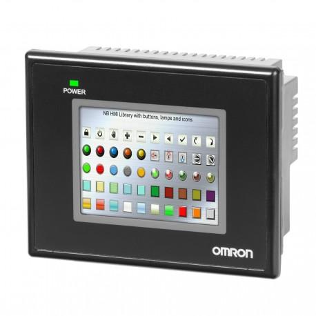 Programozható 3,5 colos touch-screen terminál 320 × 240 képpontos, 70 × 53 mm-es hasznos képernyőfelülettel színes (65536 szín)