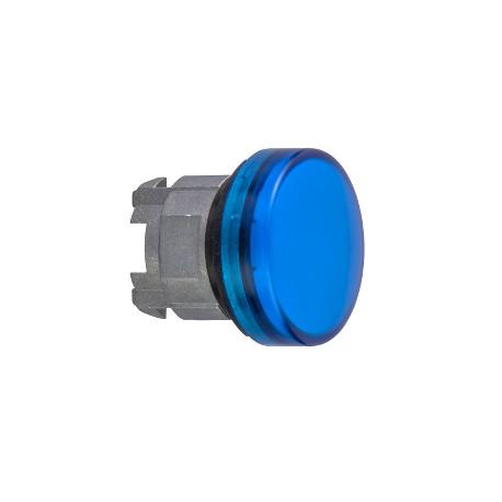Harmony fém jelzőlámpa fej, O22, BA9s izzós jelzőlámpához, kék