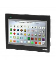 Programozható touch-screen terminál 800 x 480 képpontos, 221 x 133 mm-es hasznos képernyőfelülettel színes (65536 szín) teljes