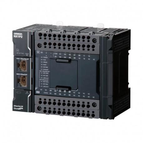 Sysmac NX1P CPU 14 digitális bemenettel, 10 digitális NPN tranzisztoros kimenettel, 1,5MB program memóriával, EherCAT interféssz