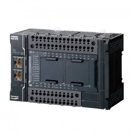 Sysmac NX1P CPU with 40 Digital Transistor I/O (PNP), 1 MB memory, EtherCAT (0 servo axes, 2 PTP axes, 8 EtherCAT nodes), EtherN