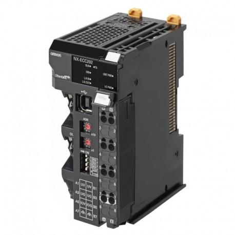 NX típusú EtherCAT slave fej egység, max. 63 I/O egység, Max. 1024 bájt bemenet + 1024 bájt kimenet, támogatja az elosztott óraj