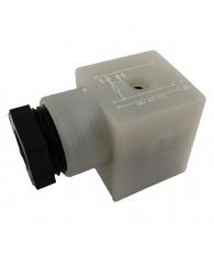 Csatlakozó dugó + LED 24V 124-701
