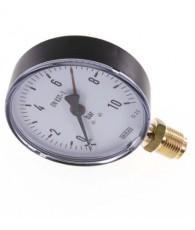 100-as manométer alsó csatlakozás 0÷10 bar G1/2 MS 10100