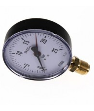 100-as manométer alsó csatlakozás 0÷25 bar G 1/2 MS 25100