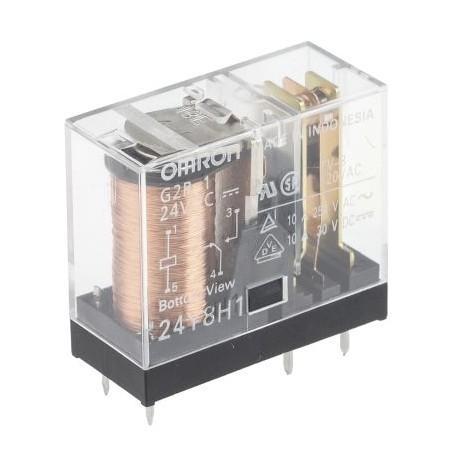 Nyomtatott áramkörre szerelhető relé, 24VDC, 1 váltóérintkezővel (10A)