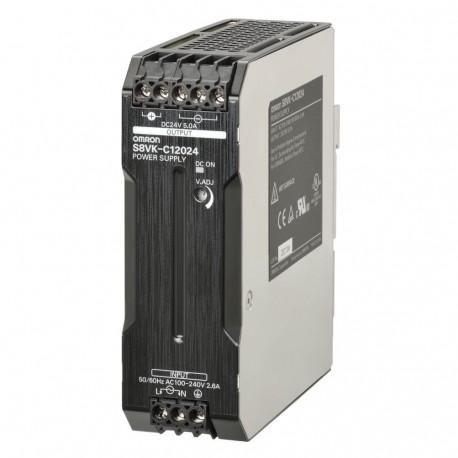 S8VK-C12024 Kapcsolóüzemű tápegység 100 - 230 VAC / 24 VDC 5 A / 120 W